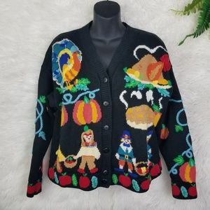 Vintage Fall Thanksgiving Cardigan Sweater